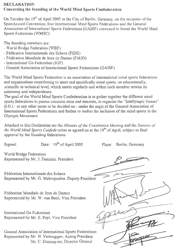 IMSA Declaration in Berlin