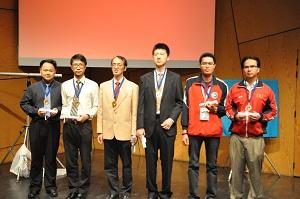 Xiang Qi - From Left to Right: Chan Chun Kit & Yu Hung Wai (Hong Kong- Bronze) –Wan Chunlin & Xie Jing (China – Gold), Nguyen Hoang Lam &Nguyen Thanh Bao (Vietnam – Silver)