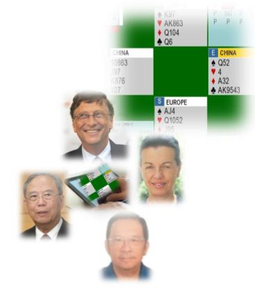 See Bill Gates in action?  @ 1st Yeh Online Bridge World Cup